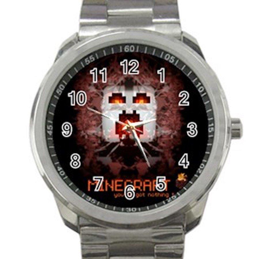Minecraft Creeper Swords Diamond Steeve Design 15 Unisex Sport Metal Watch