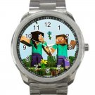 Minecraft Creeper Swords Diamond Steeve Design 18 Unisex Sport Metal Watch