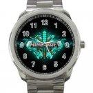 Minecraft Creeper Swords Diamond Steeve Design 19 Unisex Sport Metal Watch