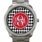 Monogrammed Stainless Steel Unisex Watch- Mix and Match Patterns and Colors