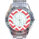Monogrammed Stainless Steel Analogue Watch-Mix and Match Patterns and Colors