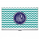 Monogrammed Business Card/ Credit Cards Holder-Mix and Match Patterns and Colors