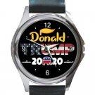 President Donald Trump 2020 Unisex Round Silver Metal Watch