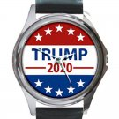 Elect Donald Trump President 2020 Unisex Round Silver Metal Watch