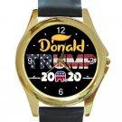 President Donald Trump 2020 Unisex Round Gold Metal Watch