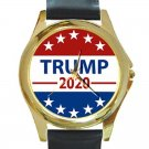Elect Donald Trump President 2020 Unisex Round Gold Metal Watch