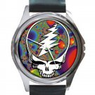 Grateful Dead - Steal Your Face - Fractal Unisex Round Silver Metal Watch