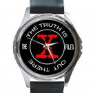 X-Files - Truth Is Out There Unisex Round Silver Metal Watch