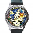 Grateful Dead - Steal Your Face - Cosmic Unisex Round Silver Metal Watch