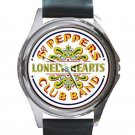 Sgt. Pepper's Lonely Hearts Club Band Unisex Round Silver Metal Watch