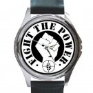 Public Enemy - Fight the Power Unisex Round Silver Metal Watch