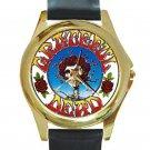 Grateful Dead - Skull & Roses Unisex Round Gold Metal Watch