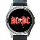 AC/DC Unisex Round Silver Metal Watch