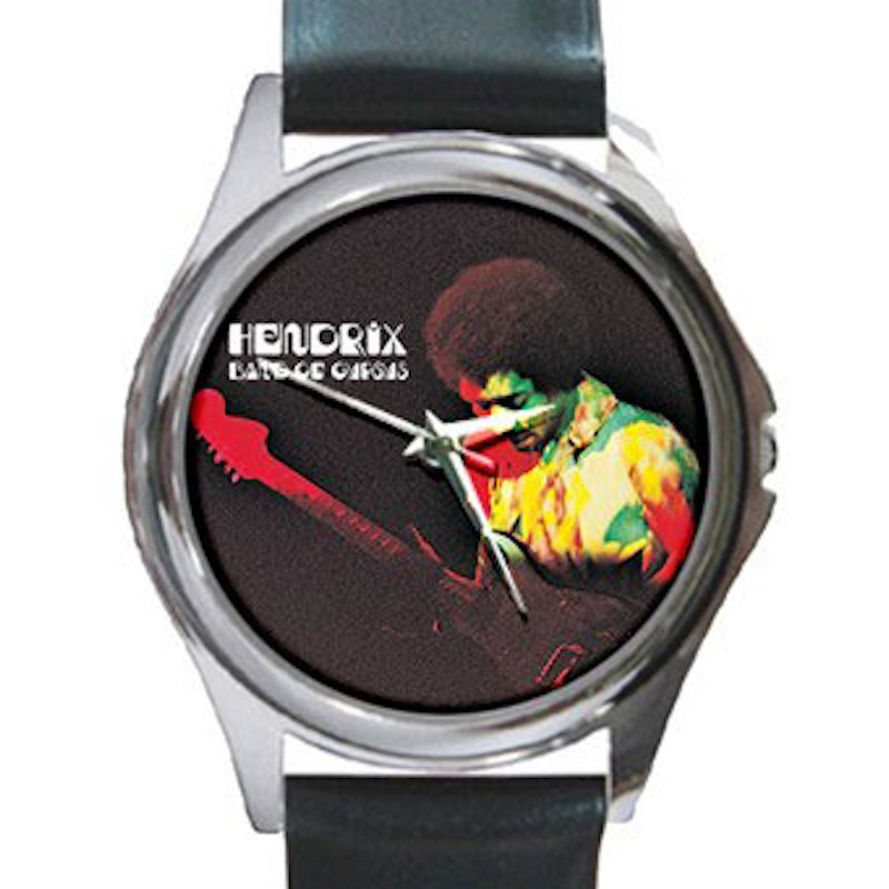 Jimi Hendrix - Band of Gypsys Unisex Round Silver Metal Watch