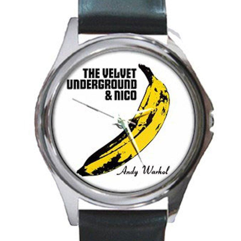 Velvet Underground & Nico - Banana - Andy Warhol Unisex Round Silver Metal Watch