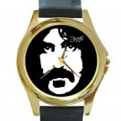 Frank Zappa Unisex Round Gold Metal Watch