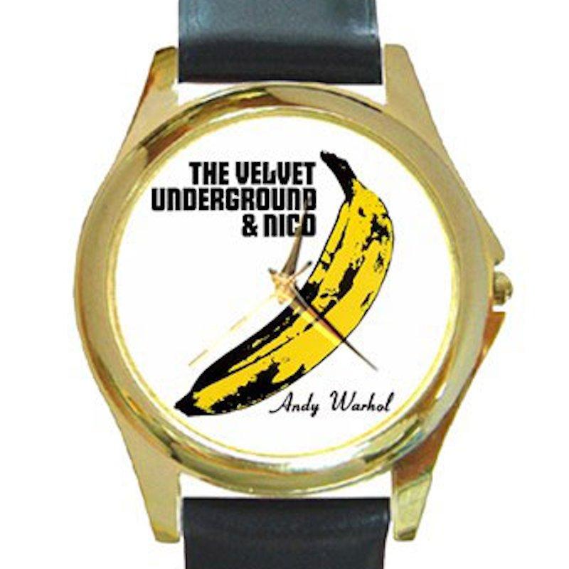 Velvet Underground & Nico - Banana - Andy Warhol Unisex Round Gold Metal Watch