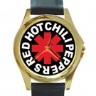 Red Hot Chili Peppers - RHCP Unisex Round Gold Metal Watch