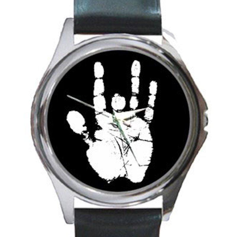 Jerry Garcia Handprint Unisex Round Silver Metal Watch