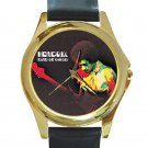 Jimi Hendrix - Band of Gypsys Unisex Round Gold Metal Watch