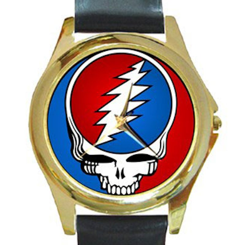 Grateful Dead - Steal Your Face Unisex Round Gold Metal Watch