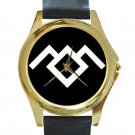 Twin Peaks - Owl Cave Unisex Round Gold Metal Watch