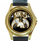 MC5 Rock Band Unisex Round Gold Metal Watch