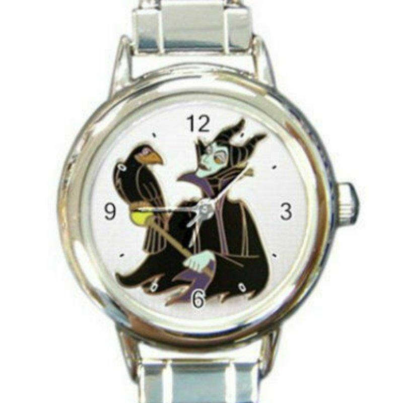 Maleficent Sleeping Beauty Round Italian Charm Watch