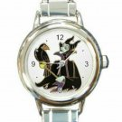 Maleficent Sleeping Beauty Round Italian Charm Watch