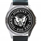 Ramones Rock Band Unisex Round Silver Metal Watch