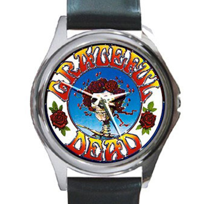 Grateful Dead - Skull & Roses Unisex Round Silver Metal Watch