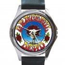 Grateful Dead - Skull & Roses Unisex Round Silver Metal Watch