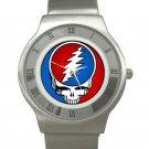 Grateful Dead - Steal Your Face Chrome Roman Dial Unisex Ultra Slim Watch