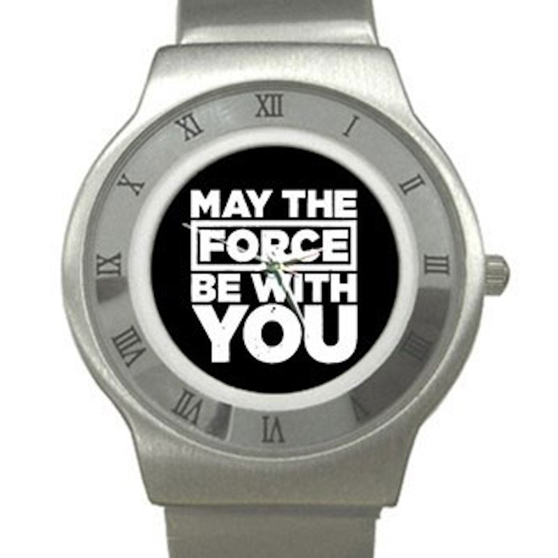 May The Force Be With You - Star Wars Chrome Roman Dial Unisex Ultra Slim Watch