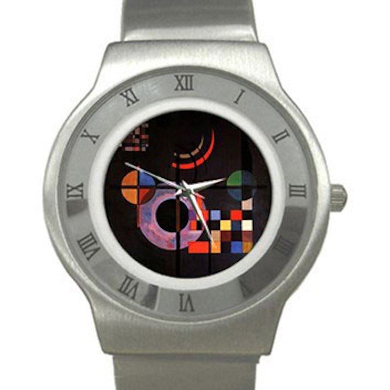 Wassily Kandinsky - Gravitation Chrome Roman Dial Unisex Ultra Slim Watch