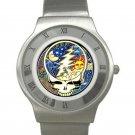 Grateful Dead - Steal Your Face - Cosmic Chrome Roman Dial Unisex Ultra Slim Watch
