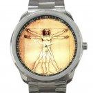 Leonardo da Vinci - Vitruvian Man Unisex Sport Metal Watch