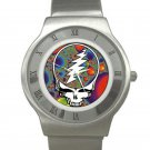 Grateful Dead - Steal Your Face - Fractal Chrome Roman Dial Unisex Ultra Slim Watch