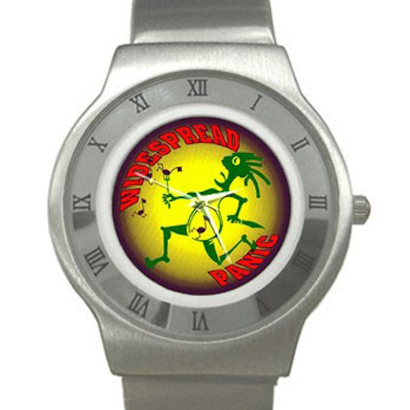 Widespread Panic - Note Eater Chrome Roman Dial Unisex Ultra Slim Watch