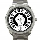 Public Enemy - Fight the Power Unisex Sport Metal Watch