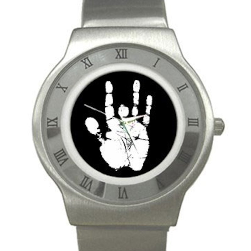 Jerry Garcia Handprint Chrome Roman Dial Unisex Ultra Slim Watch