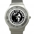 Brian Jonestown Massacre Chrome Roman Dial Unisex Ultra Slim Watch