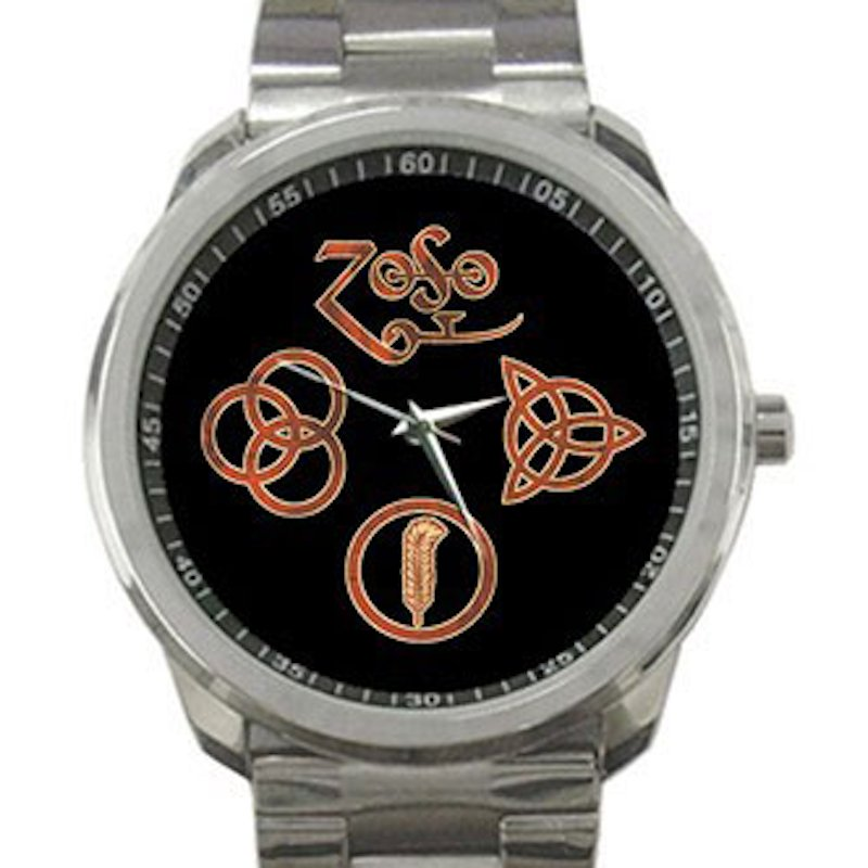 Led Zeppelin Symbols Unisex Sport Metal Watch