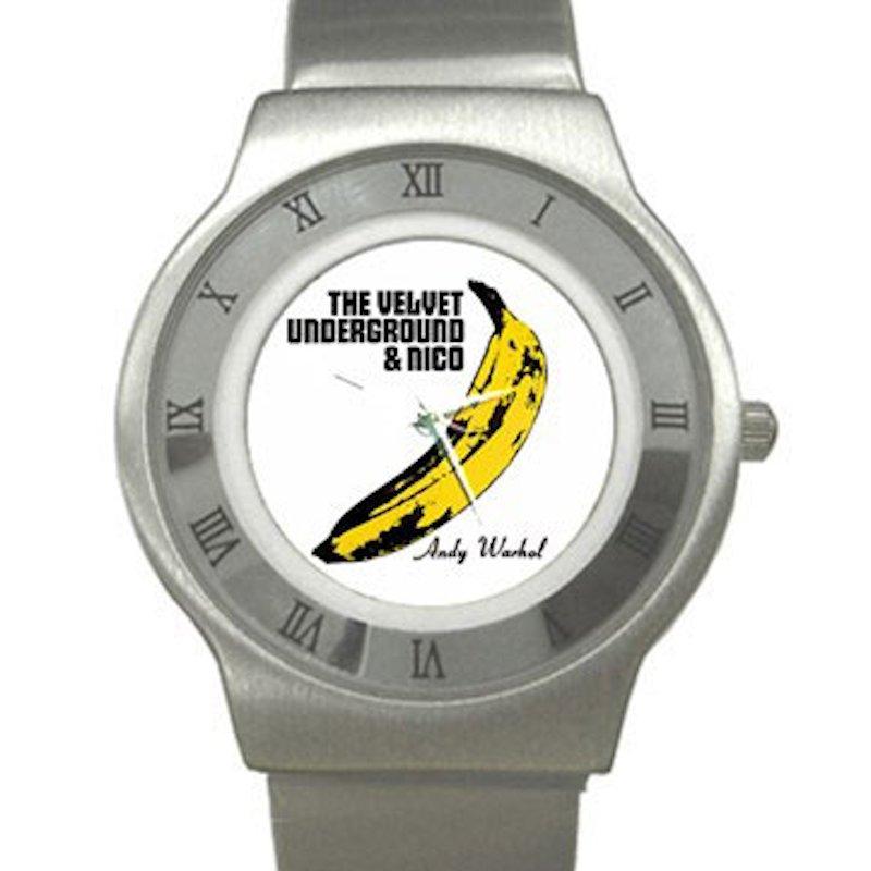 Velvet Underground & Nico - Banana - Andy Warhol Chrome Roman Dial Unisex Ultra Slim Watch