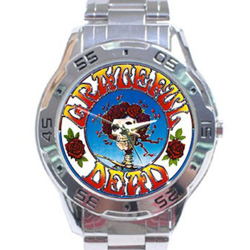 Grateful Dead - Skull & Roses Stainless Steel Analogue Watch