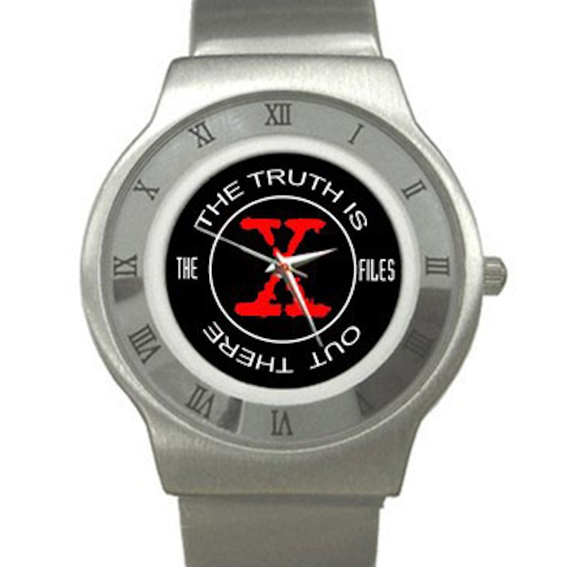 X-Files - Truth Is Out Chrome Roman Dial Unisex Ultra Slim Watch