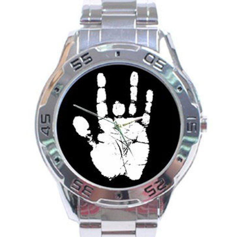 Jerry Garcia Handprint Stainless Steel Analogue Watch