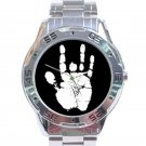 Jerry Garcia Handprint Stainless Steel Analogue Watch