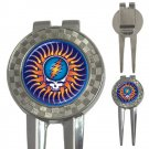Grateful Dead Sunshine Steal Your Face High Quality Metal Chrome 3-in-1 Golf Divot