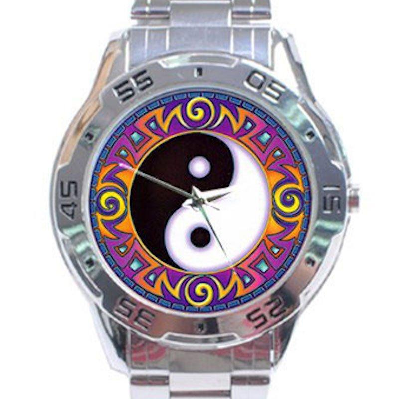 Yin Yang Tribal Analogue Watch Stainless Steel Analogue Watch